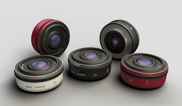 3d model nikkor 1 10mm lens