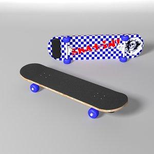 3d model skateboard plywood deck