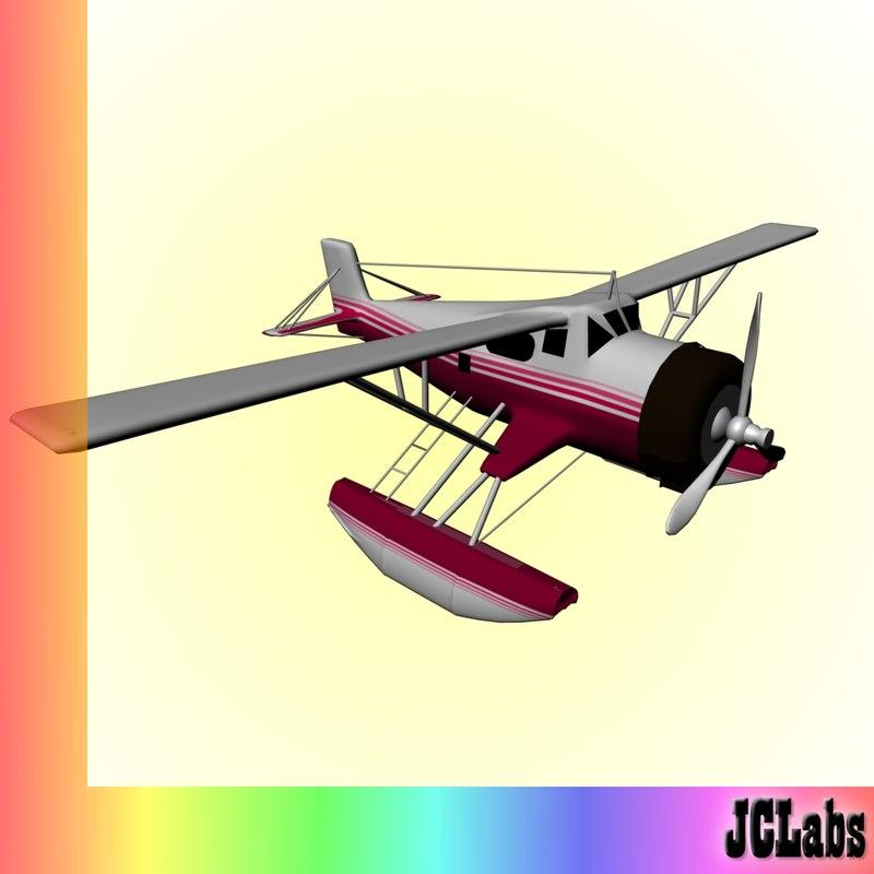 3dsmax seaplane plane
