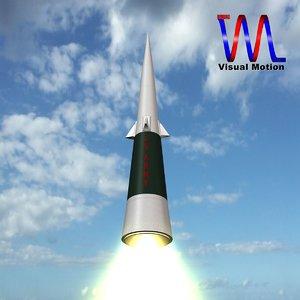 3dsmax sprint missile