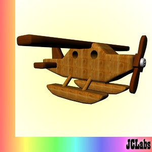 free 3ds model seaplane toy