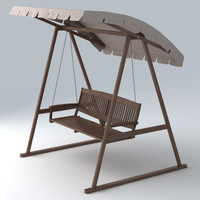 outdoor swing 3d fbx