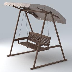 outdoor swing 3d fbx