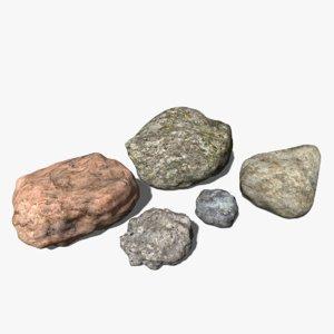 assorted rocks 3d model