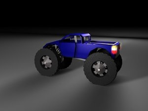 3d model of monster truck