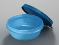 tupperware bowl 3d model