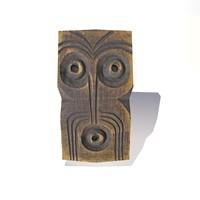 wood mask 3d model