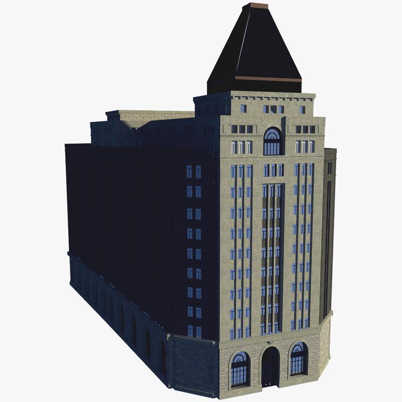 peace hotel 3d model