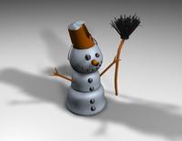 snowman snow c4d free