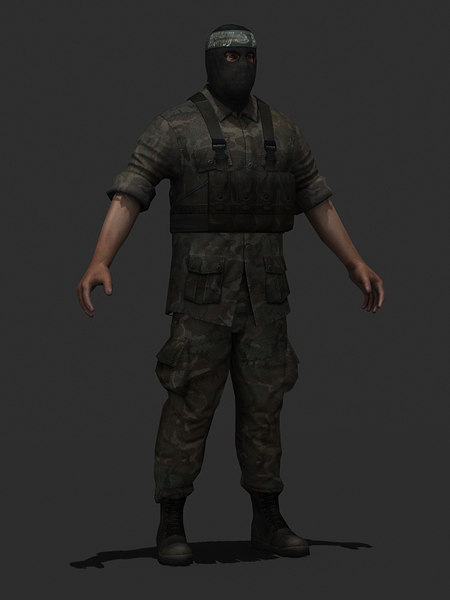 3d model character military hamas