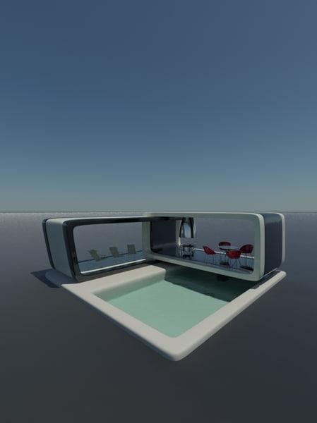 pool room 3d model