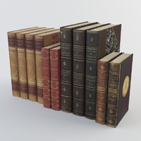 old books 3 3d model