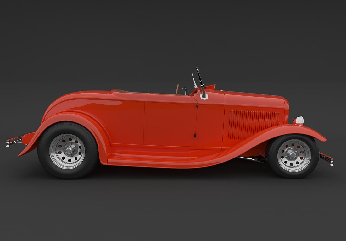 c4d roadster hot vehicle