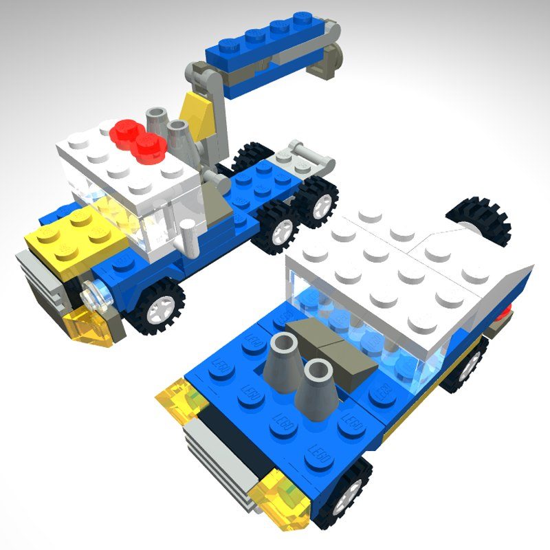 lego truck engineering 3d 3ds