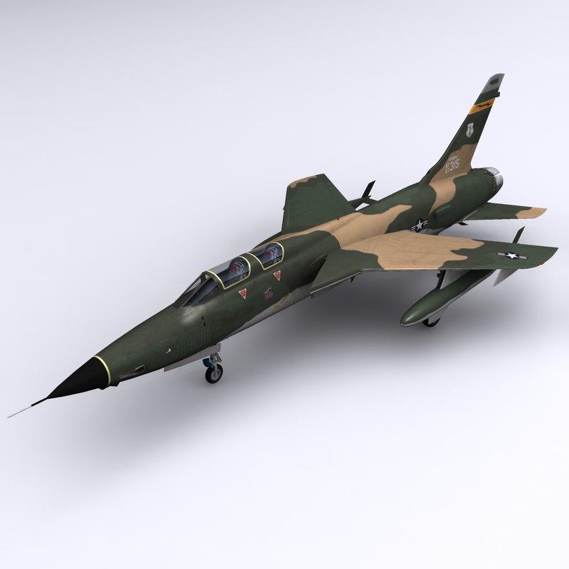 3d model of f-105 thunderchief f-105f wild