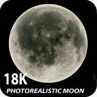 18K Photorealistic Moon