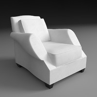 armchair savile row 3d model