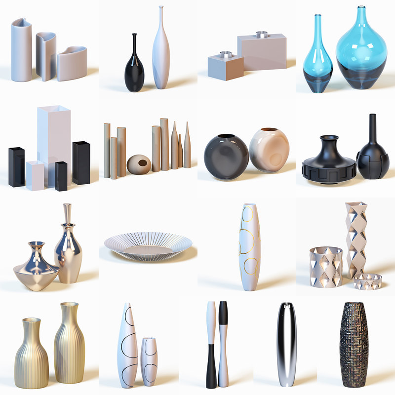 photorealistic vases max