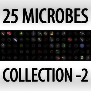 25 microbes micro sets 3d model