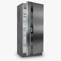3d modern refrigerator model