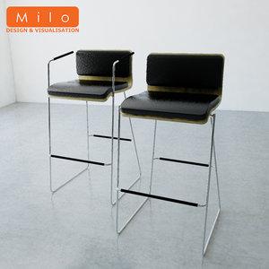 orangebox peak bar stool 3d ma