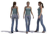 3d people 1 female model