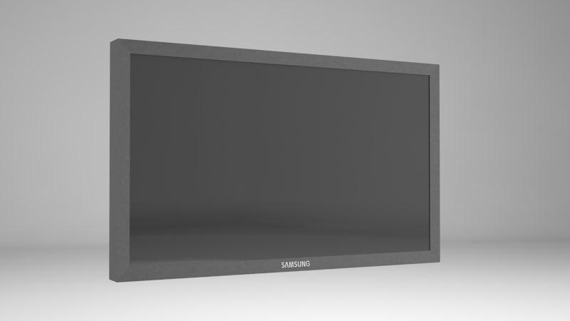 samsung touch screen lcd 3d obj