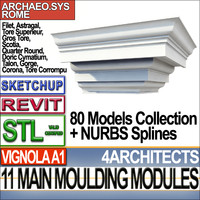 Architectural Moulding Modules Collection Revit STL Printable