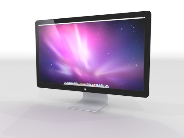 apple displey 27 monitor c4d