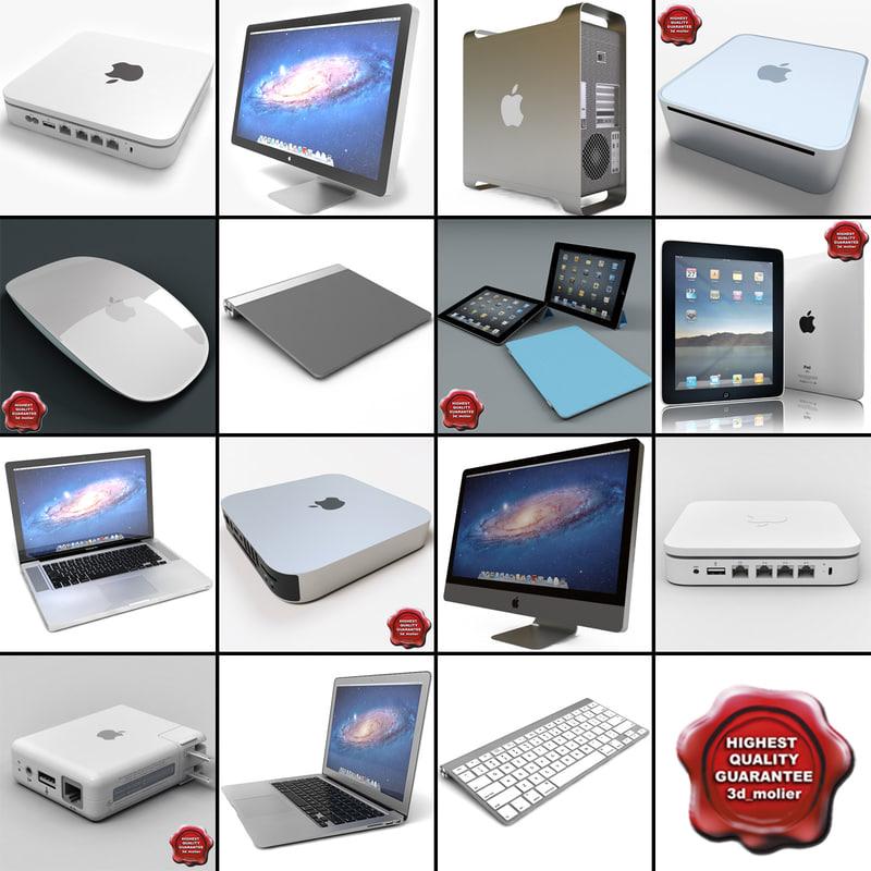 apple computers v5 3d 3ds