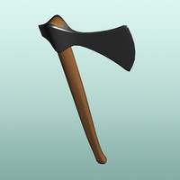free viking axe 3d model