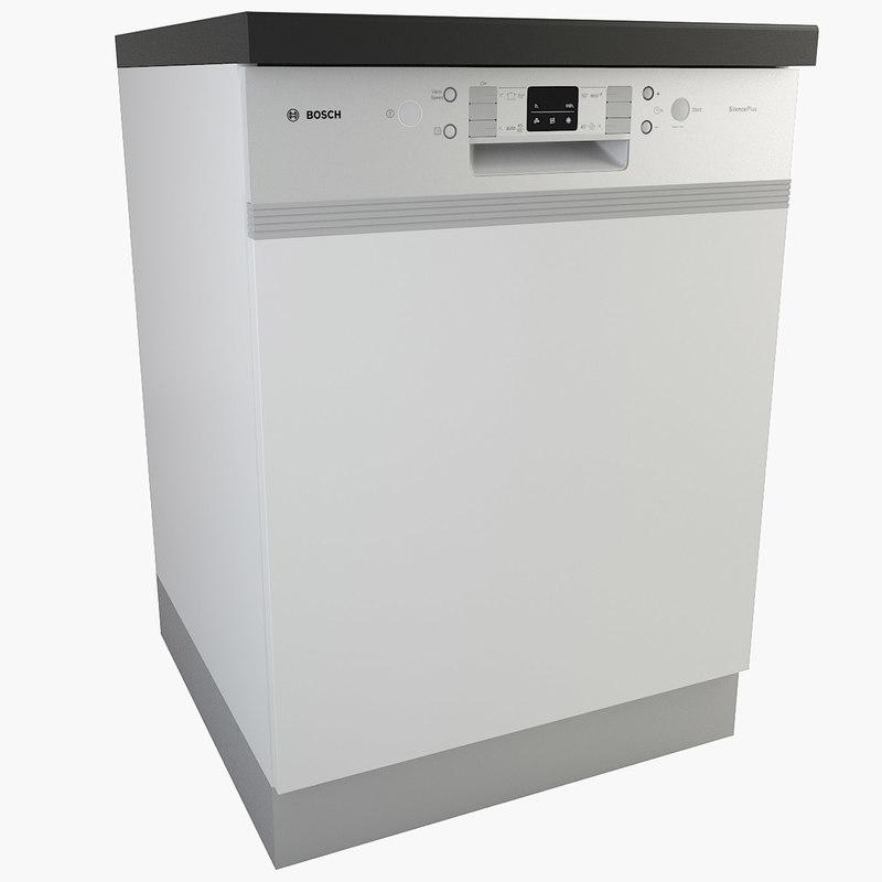 3d model real dishwasher kitchen appliances