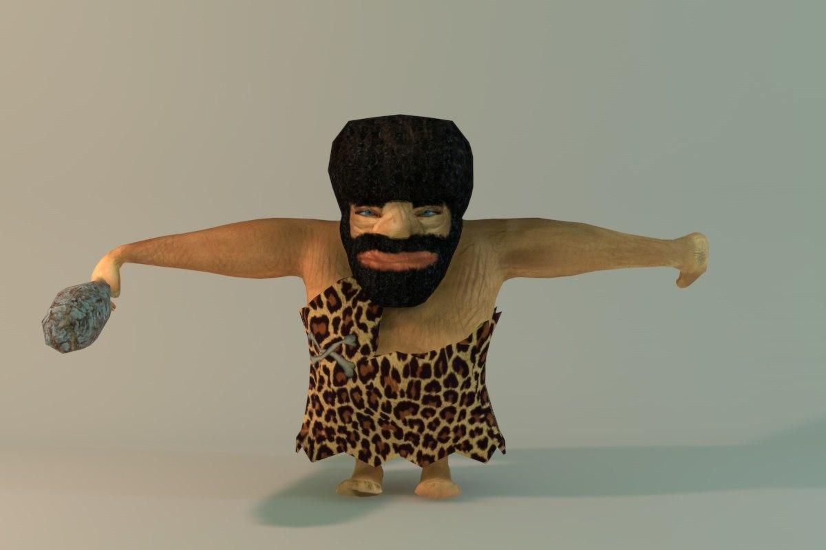 free caveman 3d model