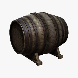 3d old cask model