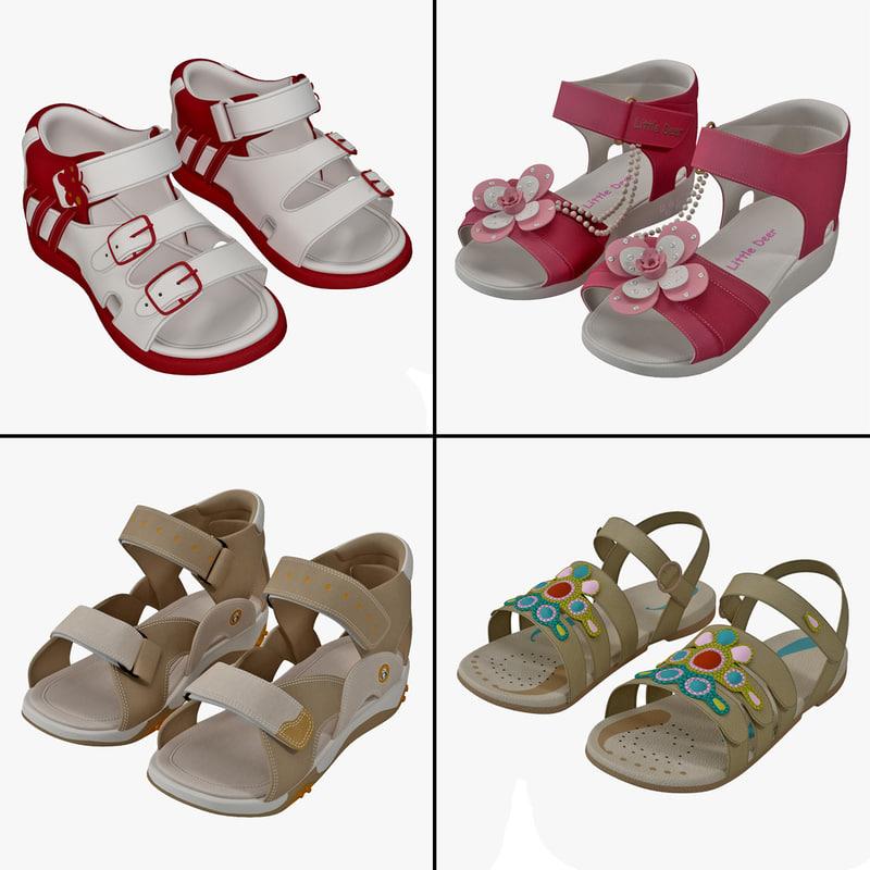 children sandals 3ds