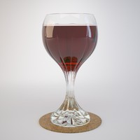 Crystal glass with red wine