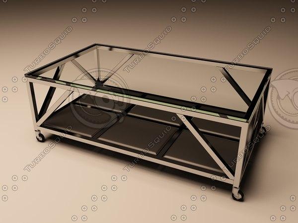 3d model eichholtz table coffee prado