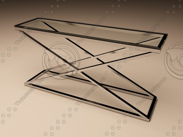eichholtz table console criss 3d model