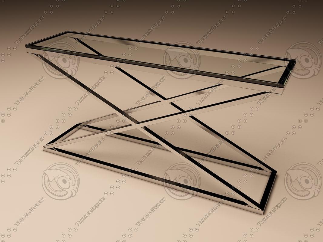 eichholtz table console criss 3d model