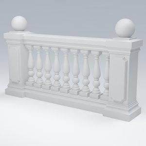 3d x balustrade