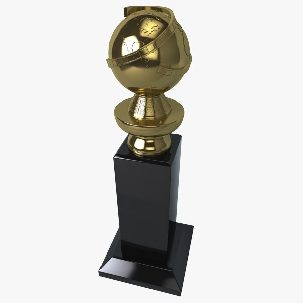 golden globe award 3d model