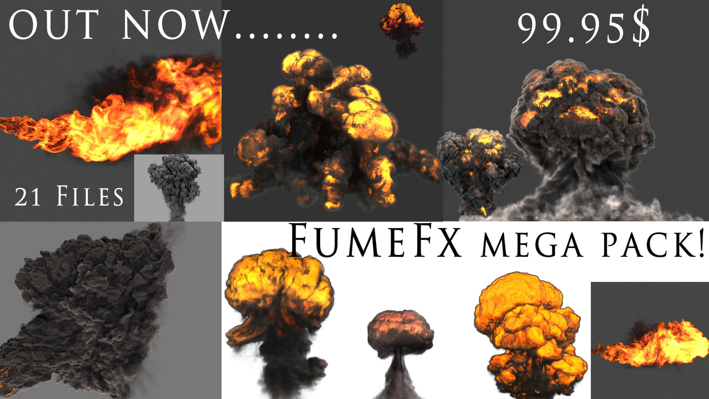fume fx flamethrower explosions 3d max