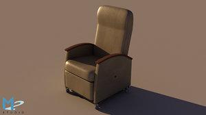 3d model recliner hospital