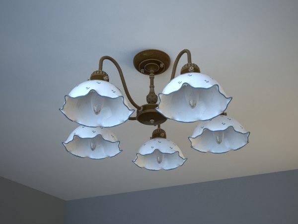 3d model chandelier kolarz nonna
