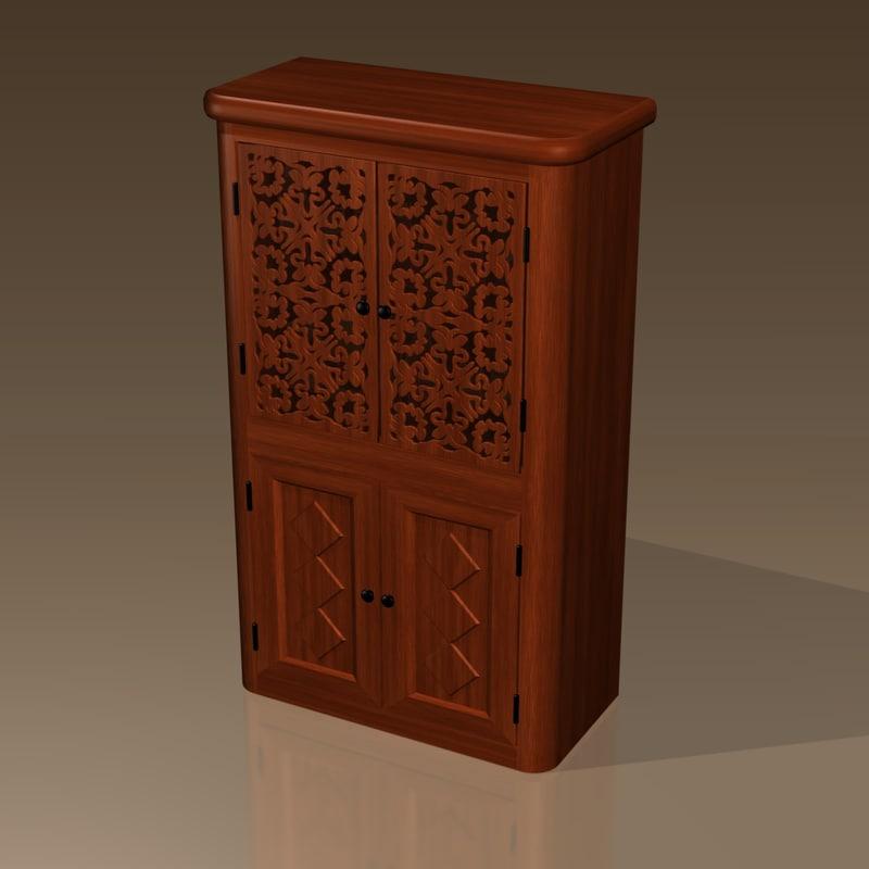 liquer cabinet 3d model