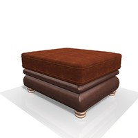 Leather & Fabric footstool 1e