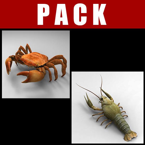 max crab lobster cheetah3d