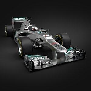 3ds max formula 1 2012 mercedes