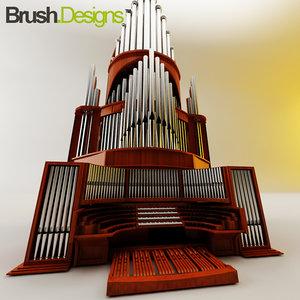 organ 3d max