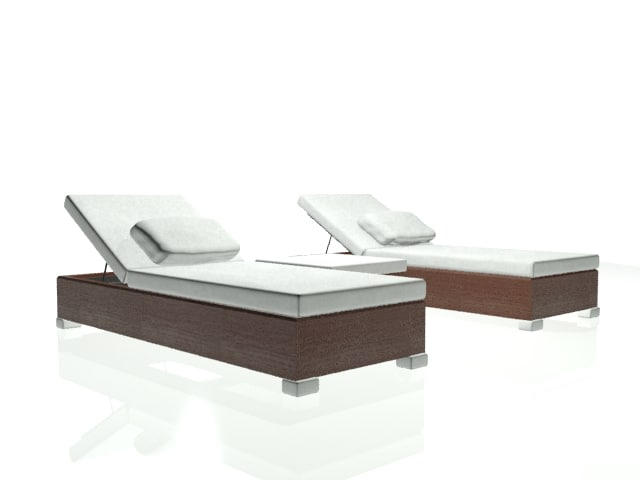 3d max lounge chair patio
